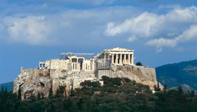 Acropolis restoration work Athens Attica Greece