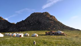 An outdoor recreational activity khankhar Mongolia