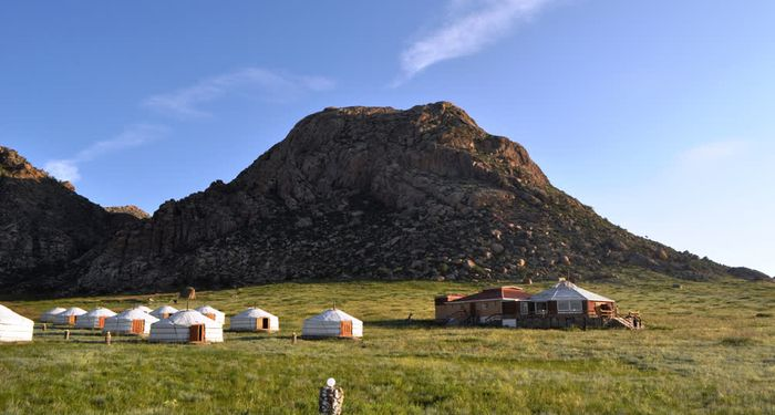 title: An outdoor recreational activity khankhar Mongolia