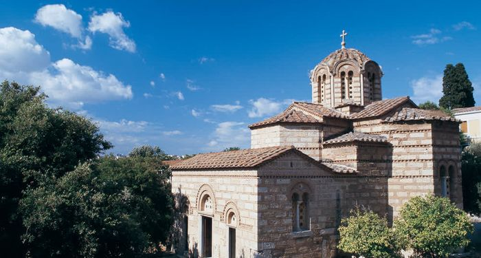 title: Ancient Agora Church of the Apostles Athens Attica Greece