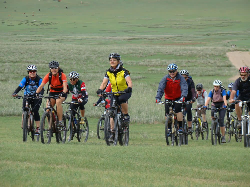 Biking together Mongolia