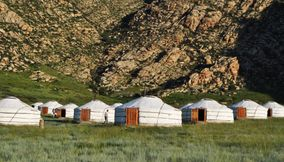 Camping in style khankhar Mongolia
