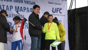 Congratulate the winners Marathon Mongolia