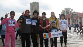 Contestants in Marathon Mongolia