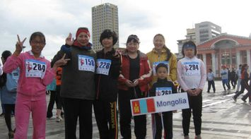 title: Contestants in Marathon Mongolia