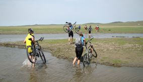 Cycling in wild nature Mongolia