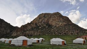 Exotic vacation in nature Khankhar Mongolia