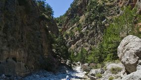 title: Hiking in Chania Samaria Gorge Crete Island Greece