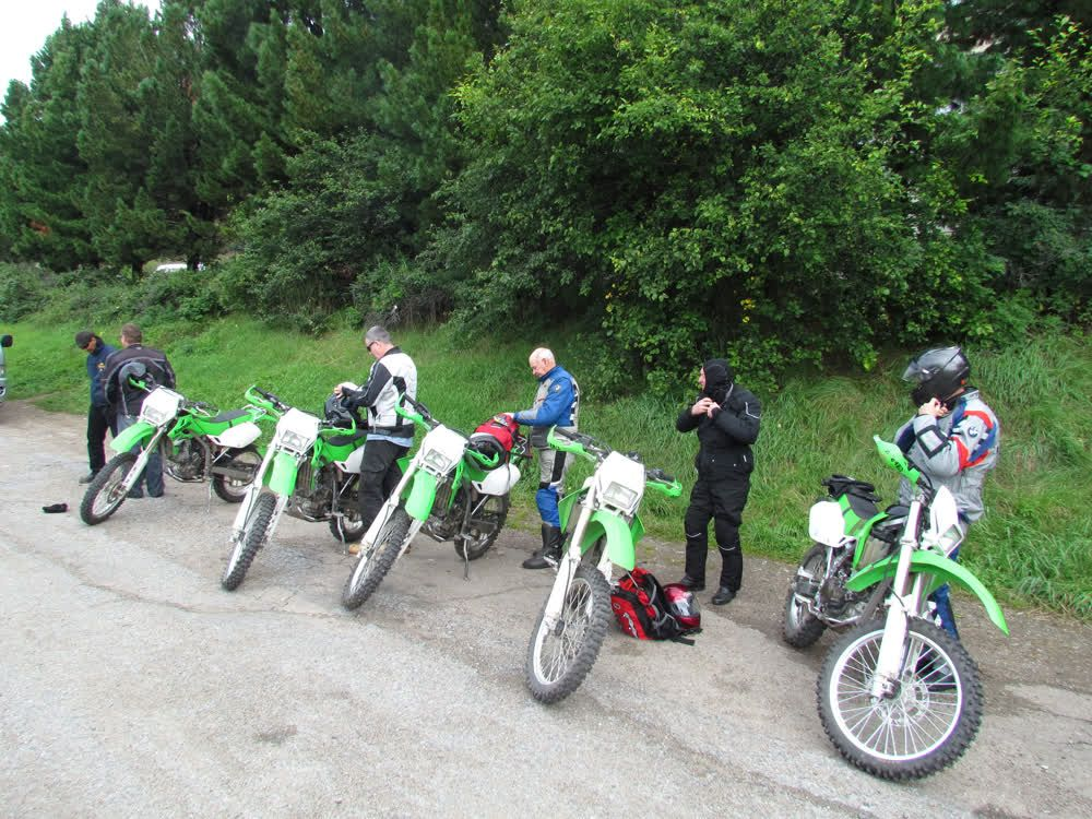 Motorcycles getting reading for adventure Mongolia