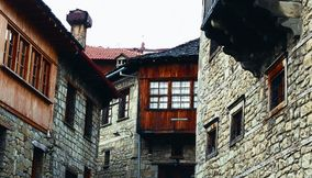 title: Narrow street Metsovo Epirus Greece