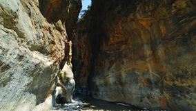 One of the longest ravines in Europe Chania Samaria Gorge Crete Island Greece