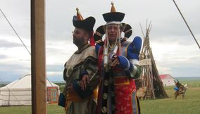 People in Traditional outfit Mongolia