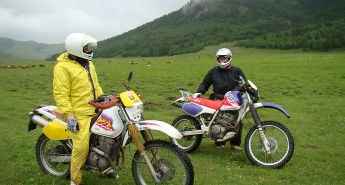 title: Riding a motorcycle Mongolia