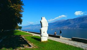 title: Statue at Ioannina lake Epirus Greece