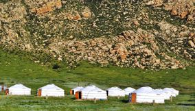 Vacation in tents khankhar Mongolia