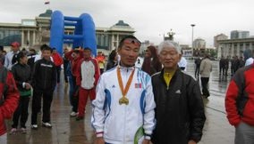 Winner in Marathon Mongolia