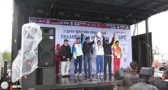 title: Winners celebration Marathon Mongolia