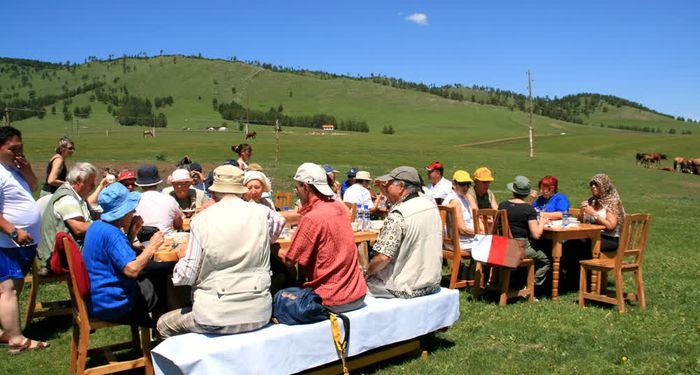 title: outdoor meal Mongolia