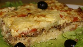 title: A Deliciously Cheesy Russian French Meat Casserole