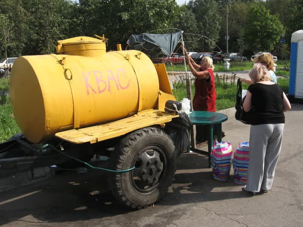 title: A KBAC Kvas Street Vendor in Russia