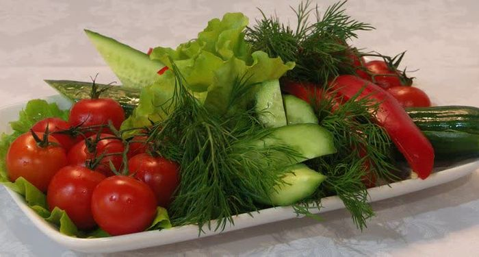 title: Assortment of Fresh Vegetables at the Buffet