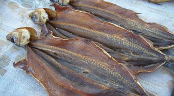 title: Delicious Freshly Caught Smoked Fish in Russia