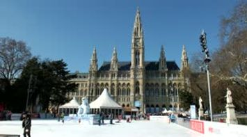 title: A Lovely Video of the Renowned New City Hall on Rathausplatz and its Winter Festivities in Vienna Austria