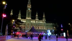 title: Live DJ Music Playing on Rathausplatz in Vienna Austria
