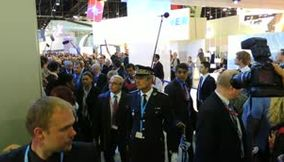Visite du president Hollande Salon du Bourget 2013
