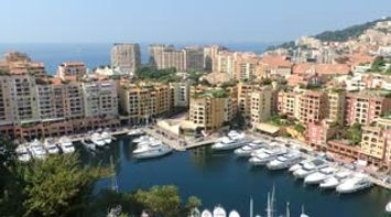 title: Monaco General Panoramic view from the Rock Mont Carlo