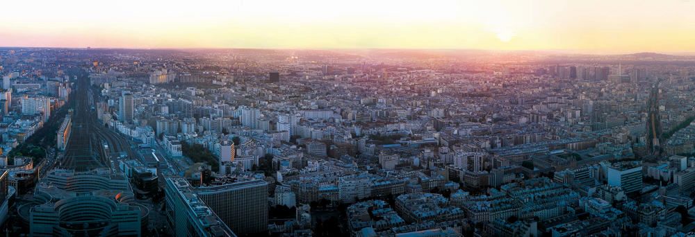 A View of Gare Montparnasse in Paris Scenery from Tour Montparnasse