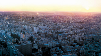 title: A View of Gare Montparnasse in Paris Scenery from Tour Montparnasse