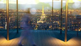 title: A View of Tour Eiffel from Venue of Espace 56