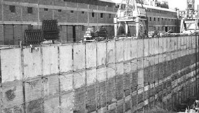 Black and White Photo of Old Construction Site of the Tower in the 20th Century