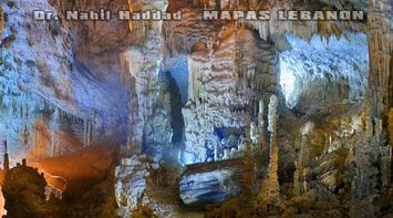 title: Blue Interior Lighting in the Upper Caves