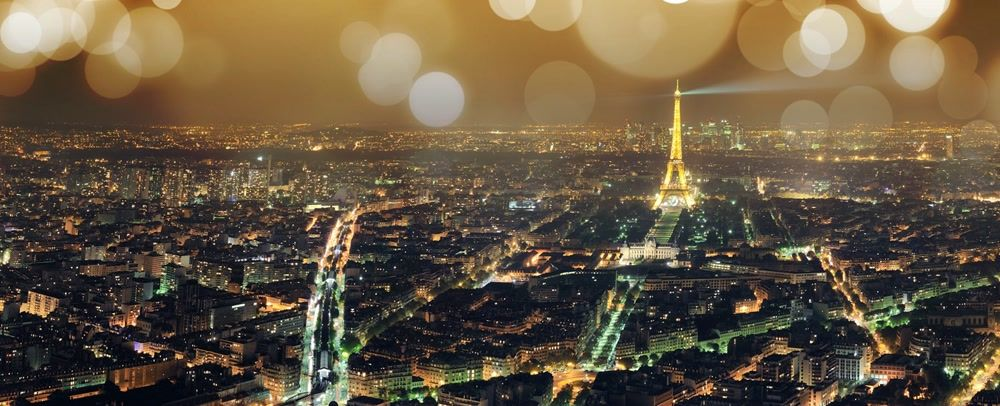 title: City of Paris and Tour Eiffel Landmark in the Evening