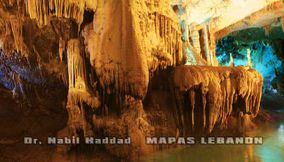title: Colorful Interior Section of Lower Caves