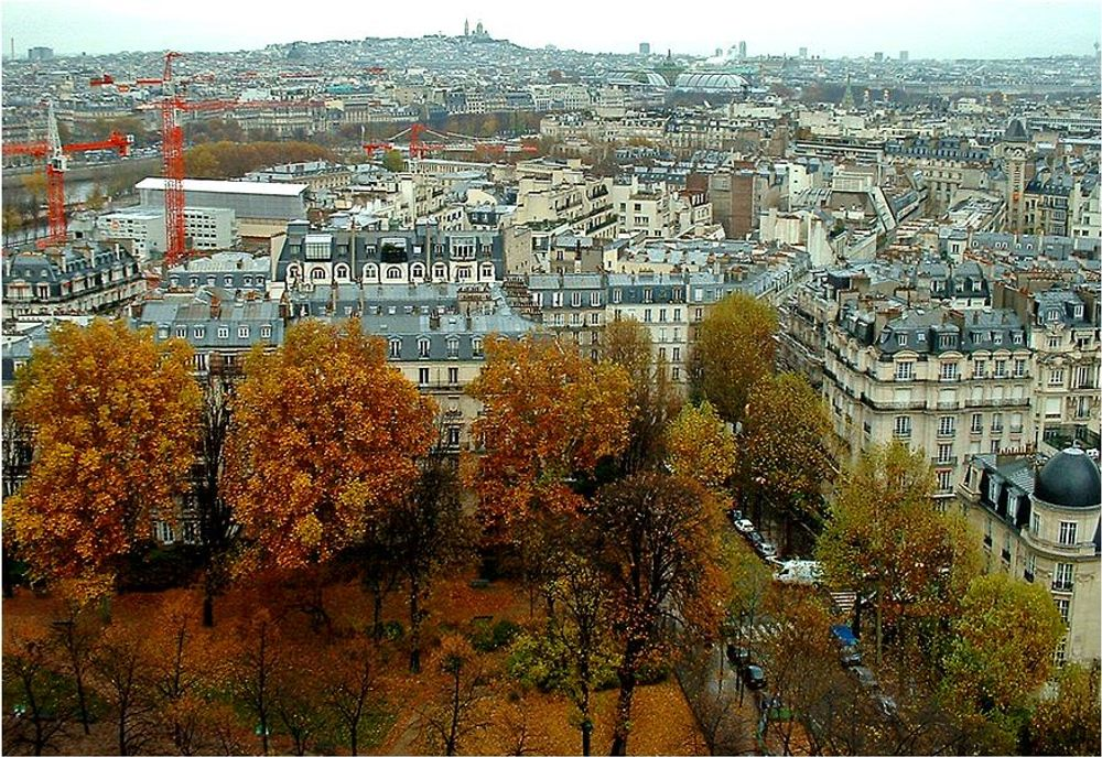 title: Colors of Autumn in Paris from the Montparnasse Tower