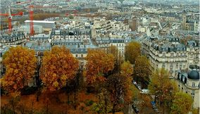 Colors of Autumn in Paris from the Montparnasse Tower
