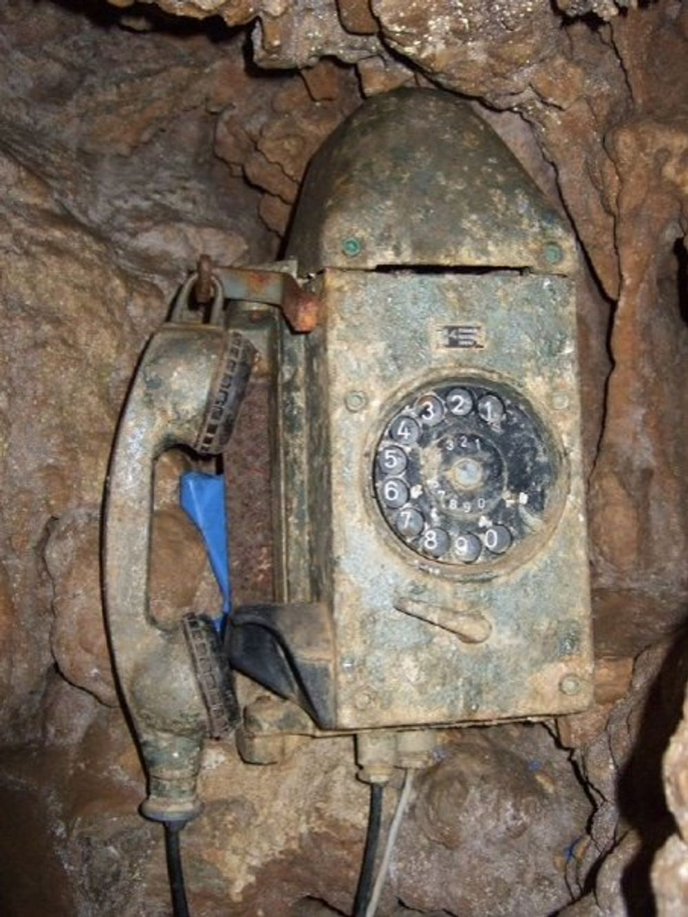 title: Old Vintage Phone in the Caves of Jeita