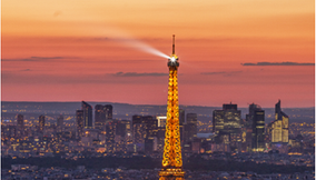 Photo of the Tour Eiffel at Sunset from Montparnasse Tower on the 56th Floor at Sunset