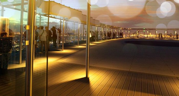 title: Picturesque and Calm Terrace of Tour Montparnasse in the Evening