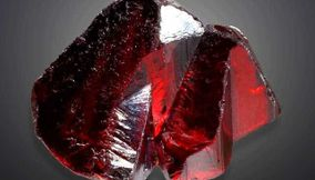 title: Red Proustite Mineral from Chile South America