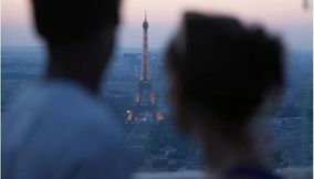 Romance on the Terrace of Tour Montparnasse 56 at Dusk