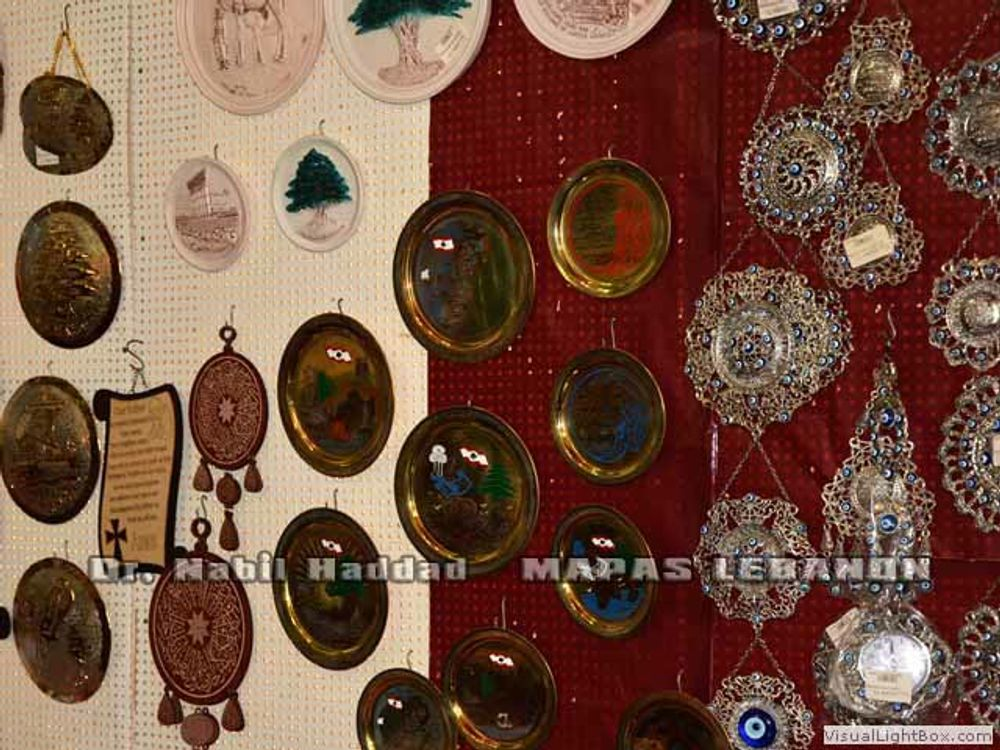title: Souvenirs Hanging on Wall in Gift Shop