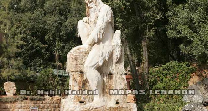 title: Statue Monument Outside Jeita Caves
