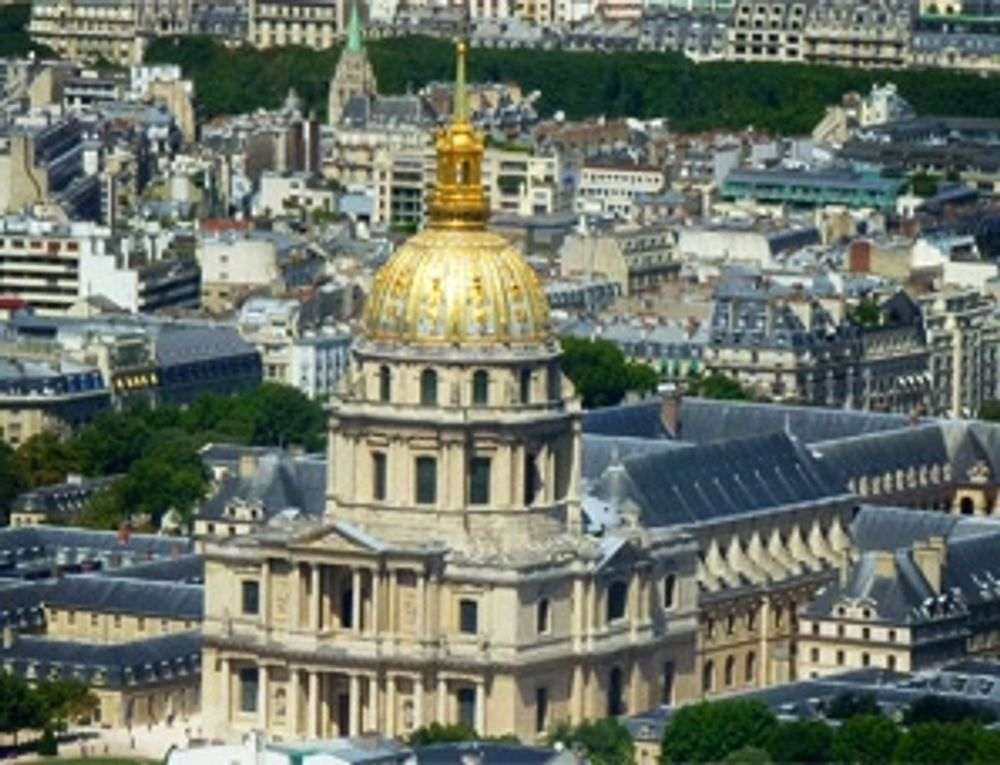 The Gold Shiny Dome of Les Invalides Seen from Tour Montparnasse 56