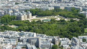 The Jardin du Luxembourg Landmark Seen from the Montparnasse Tower