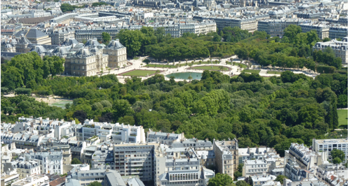 title: The Jardin du Luxembourg Landmark Seen from the Montparnasse Tower