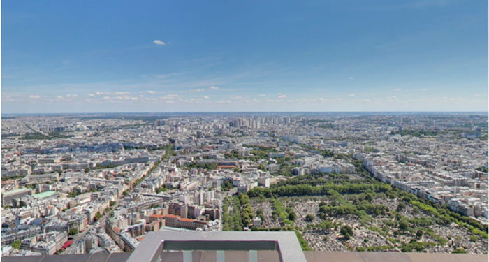 title: The Montparnasse Cemetery from the Tower Terrace